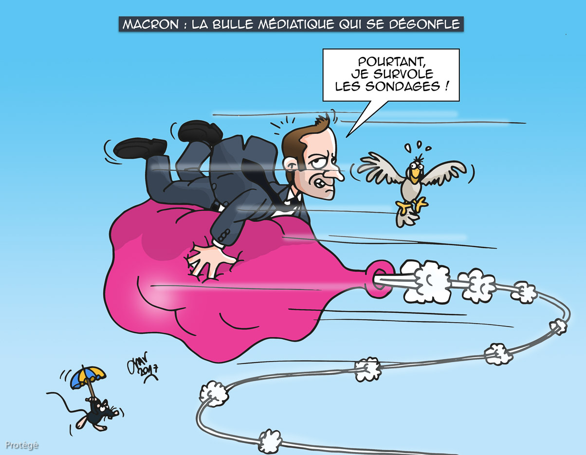 Xav Dessins De Presse Bd Macron Bulle
